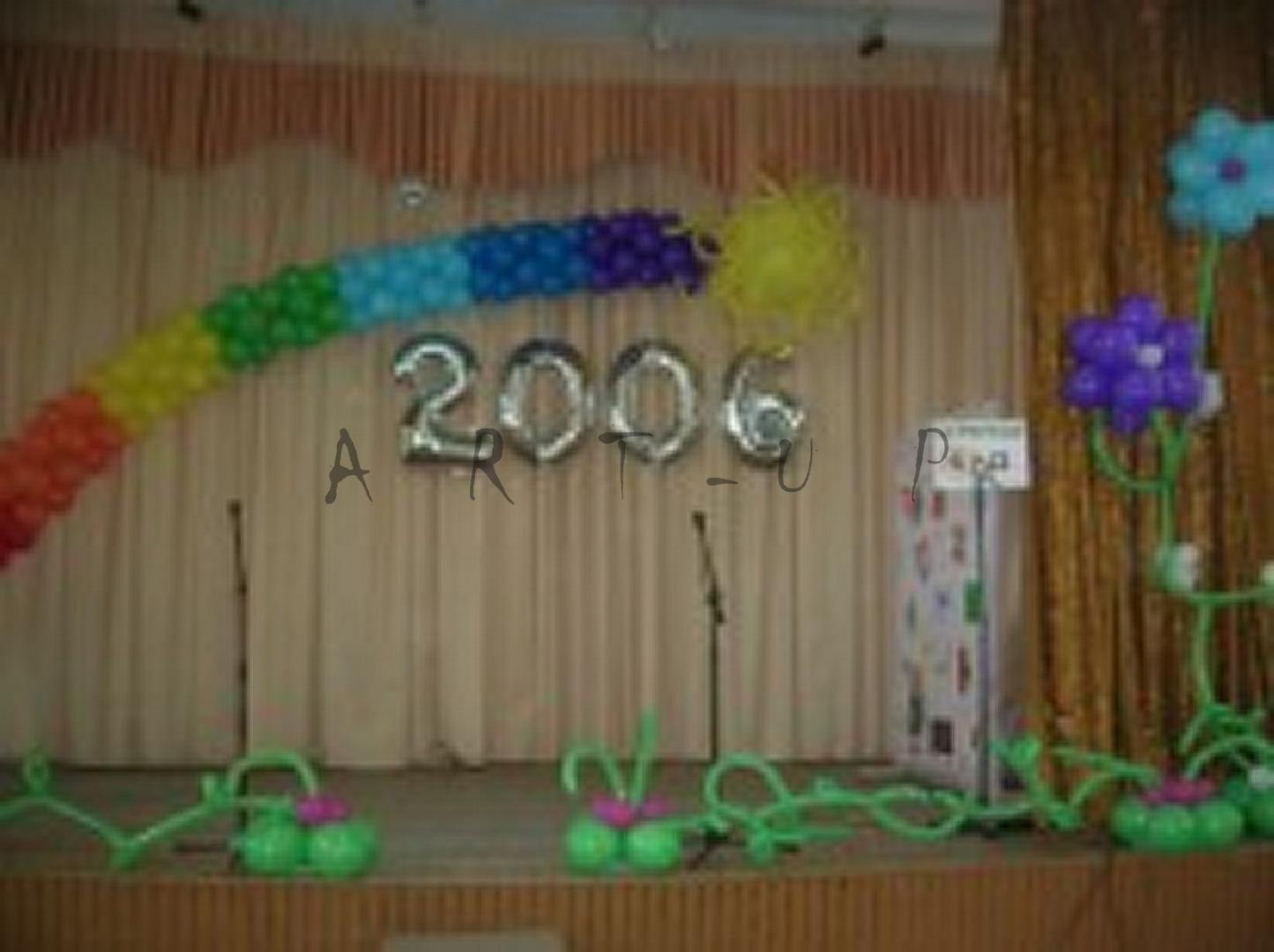Украшение шарами на выпускной своими руками